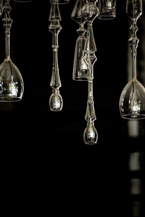 chandelier glass art work
