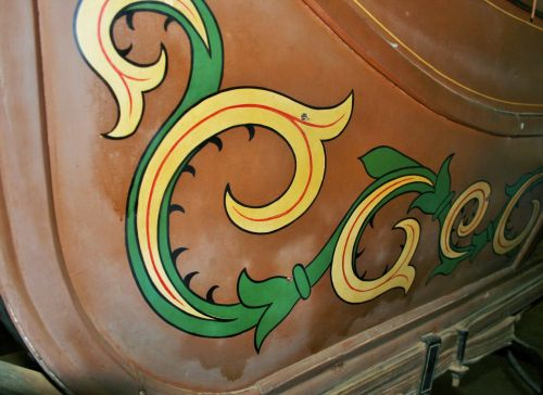Decorative Paintwork On Mail Coach