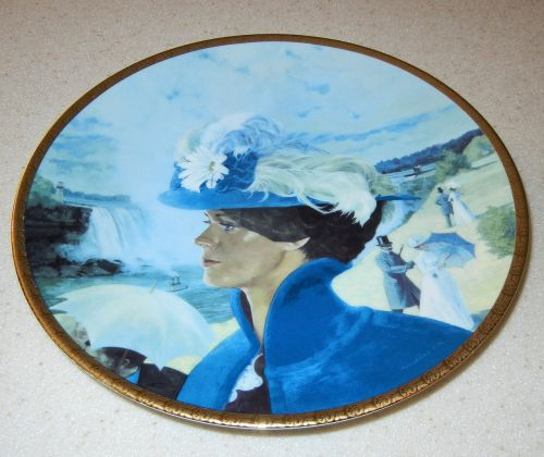 decorative plate mrs albee on vacation canadian plate