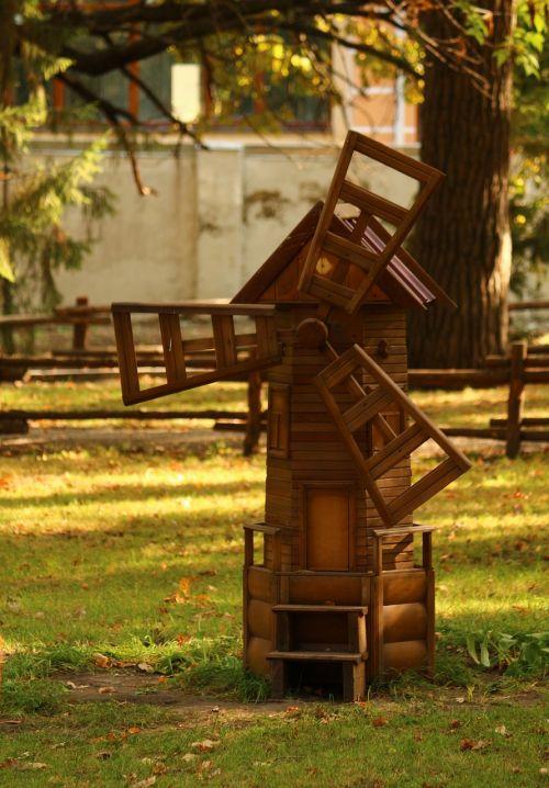 decorative windmill mill park