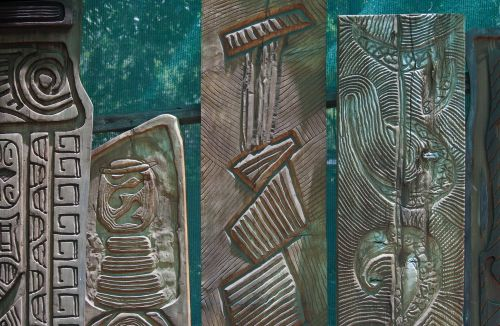 Decoratively Carved Wood Panels
