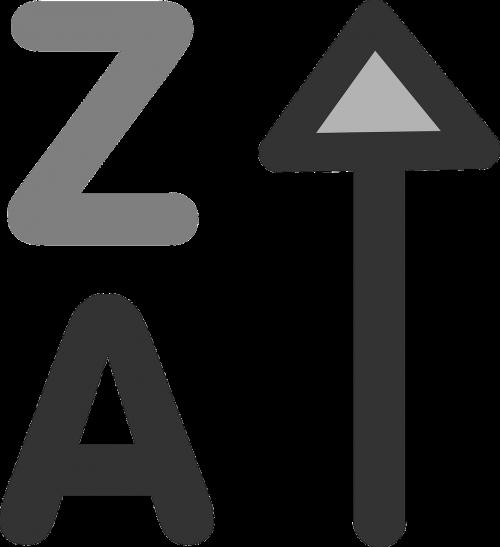 decrease alphabetically symbol