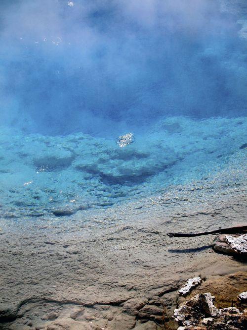 deep blue water