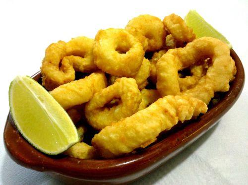 deep-fried food squid