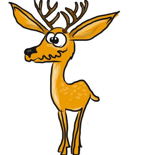 deer herbivore animal