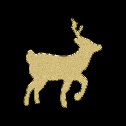 deer christmas new year's eve