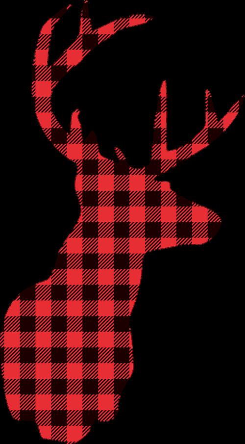 deer  christmas  lumberjack