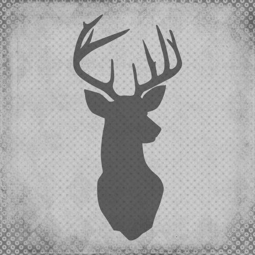 Deer Stag Vintage Silhouette