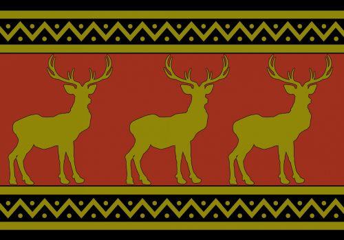Deer, Stag Wallpaper Pattern