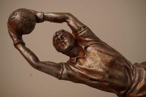 defense goalkeeper statue