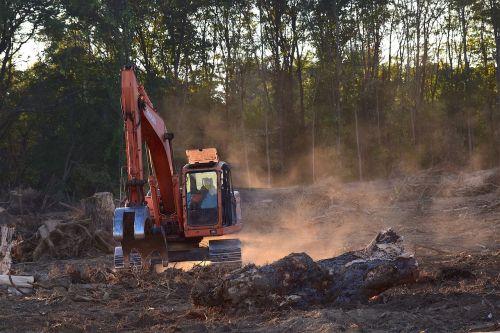 deforestation machine truck