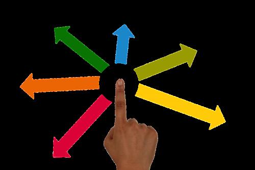delegate finger hand
