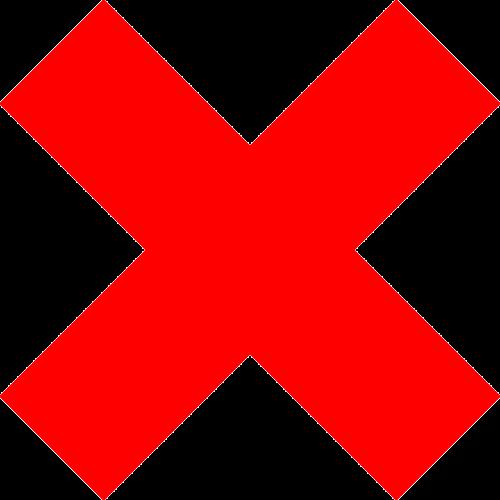 delete remove cross