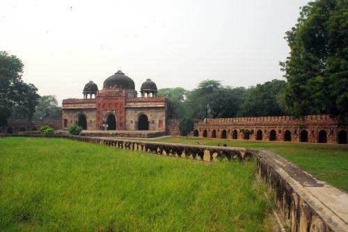 delhi humayung tomb pollution