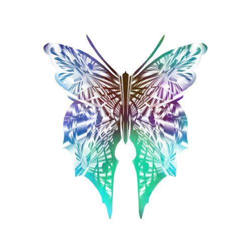 Delicate Pastel Butterfly