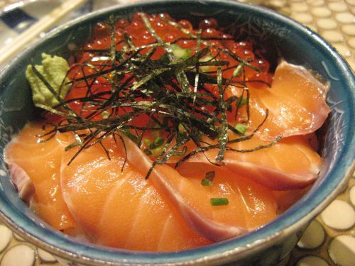 delicious salmon salmon roe salmon rice