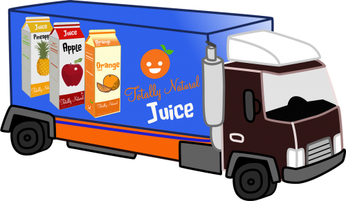 delivery truck juice natural