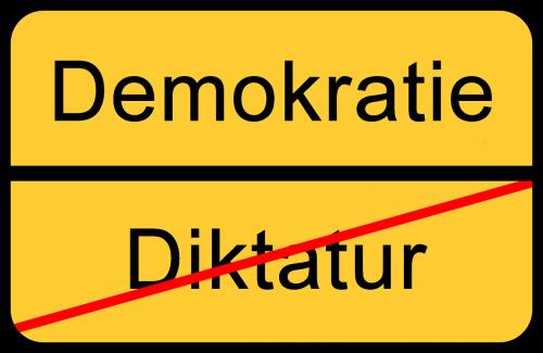 demokratie dictatorship end