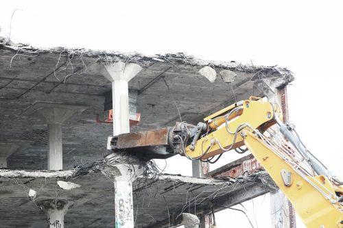 demolish bulldozer tearing