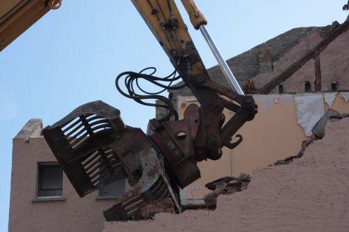 demolition demolition excavator ruin