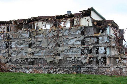 demolition destruction building