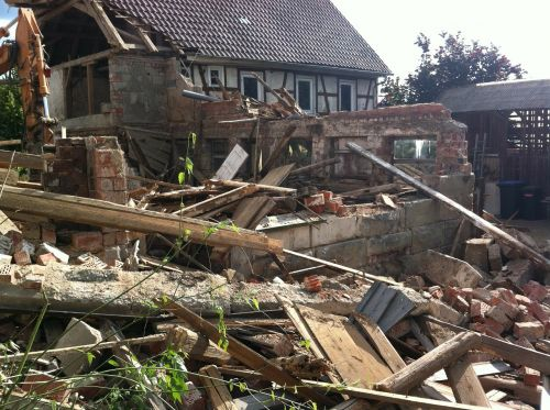 demolition ruin home