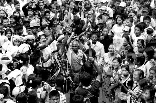 demonstration burmese people
