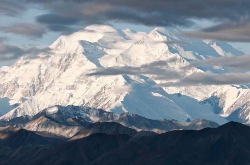 denali national park mountain snow