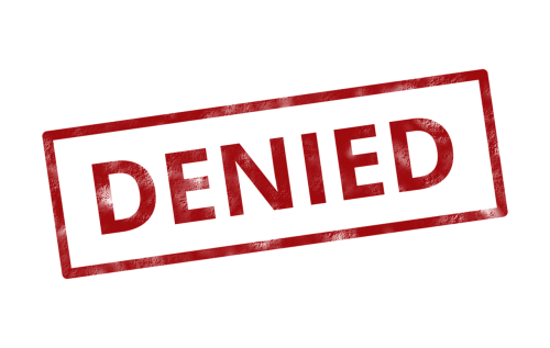 denied insurance rejected