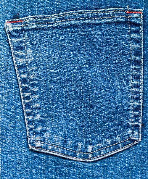 Denim Jeans Back Pocket