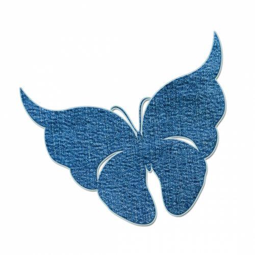 Denim Butterfly Motif