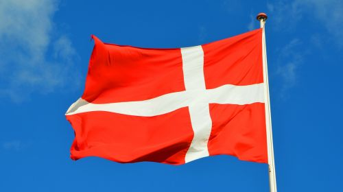 denmark,flag,sky,danish flag,danish,blue sky,national flag,waving flag,white,wind,flagpole,red,clouds