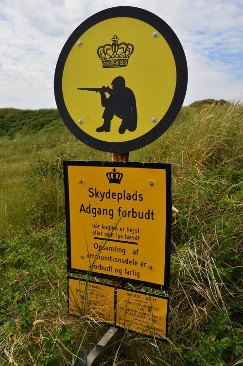 denmark military training area access forbidden