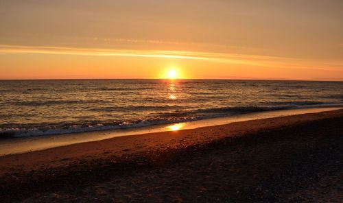 denmark north sea sunset