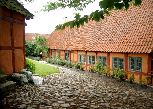 denmark ebeltoft tiled roofs