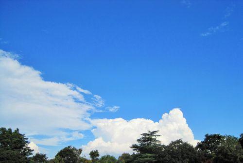 Dense White Cloud On Horizon
