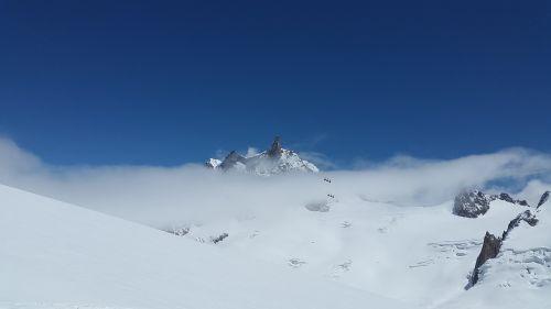 dent du géant grand jorasses high mountains