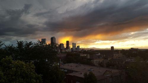 denver sunset sky