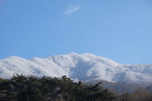 deogyusan hard rime snow mountain