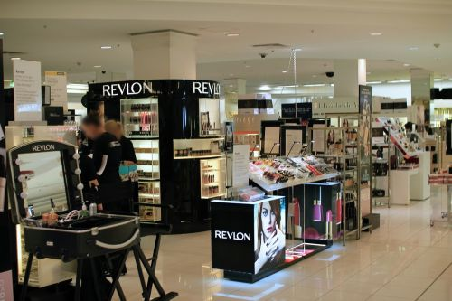 department store cosmetics counter cosmetics