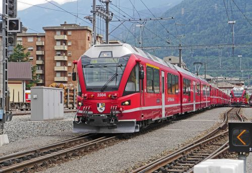 departure in tirano north italy bernina railway