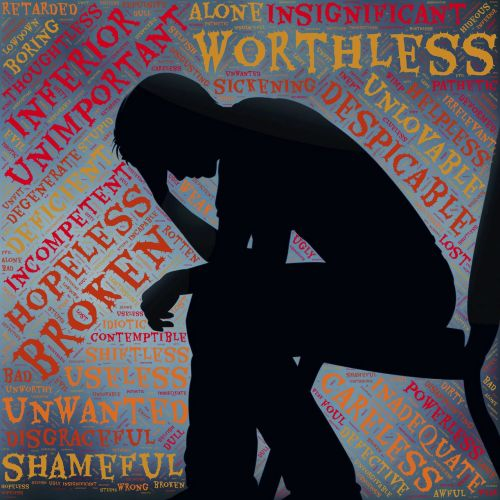 depression voices self-criticism