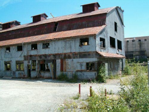 Derelict Warehouse Empty Waterfront