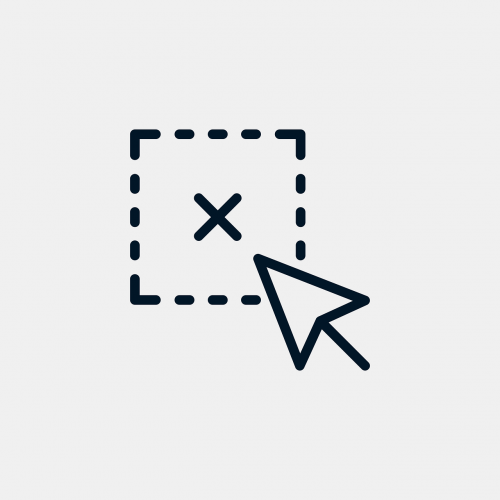 deselect icon symbol