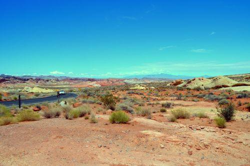 desert road stone desert