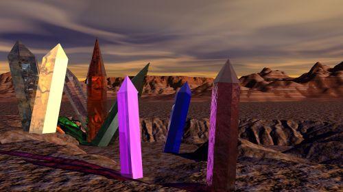 desert crystals mars