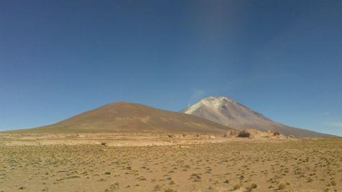 desert bolivia the volcano