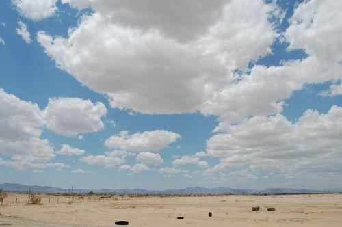 desert clouds abandoned