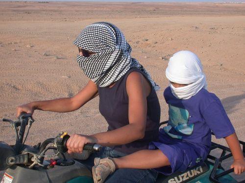 motociklas,dykuma,važiuoti,desolate,motina,vaikas