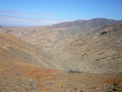 desert landscape volcanic fuerteventura